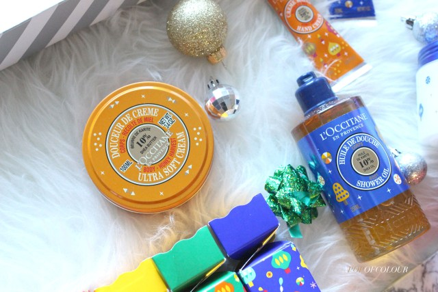 L'Occitane Body Butter and shower gel for the holidays 2019