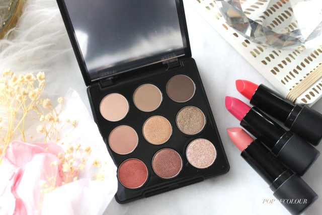 Avon Mono Pop Eyeshadow Palette and Rouge Satin Kiss lipsticks