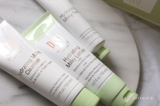 Pixi Beauty Hydrating Milky Cleanser, Peel, and Lotion