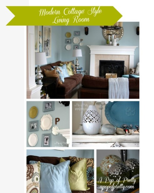 Silver Living Room Design Diy : Year of Decorating and DIY Projects: A Look Back at 2012!  A Pop of ...