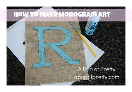 how to make monogram art