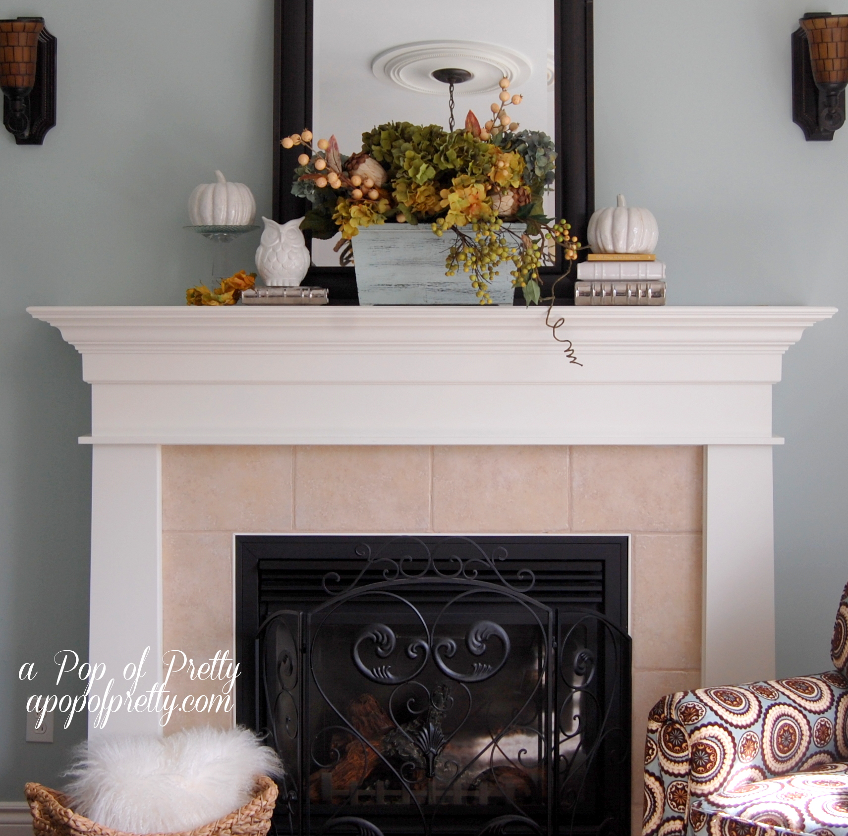 Mantelpiece Ideas Fall Mantel Ideas A Pop Of Pretty Blog Canadian Home