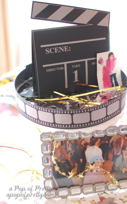 Hollywood party centerpiece