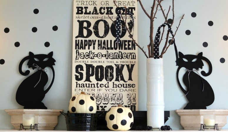 Halloween Decorating: Black & White with Polka Dots