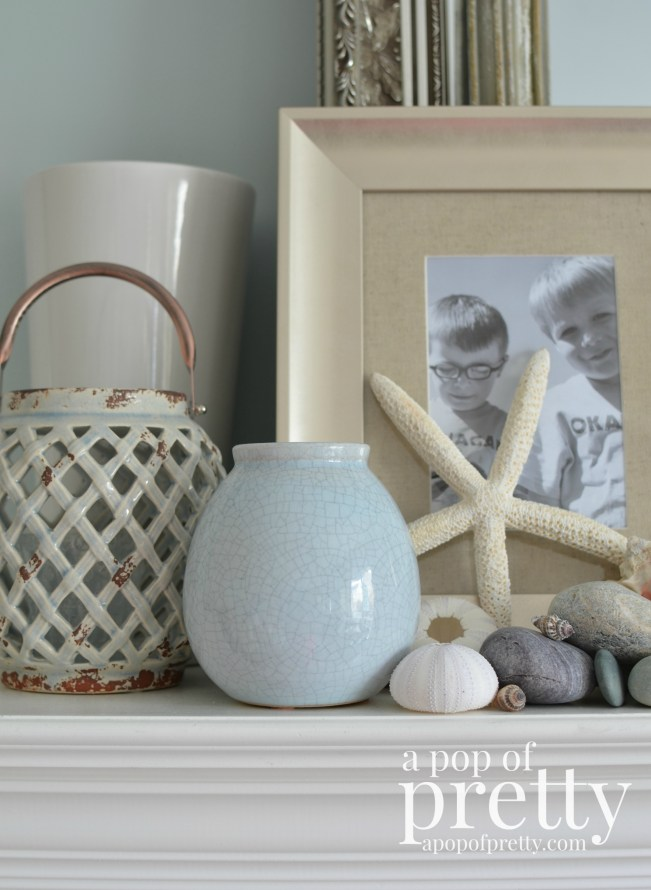 Summer Beach Mantel Decor
