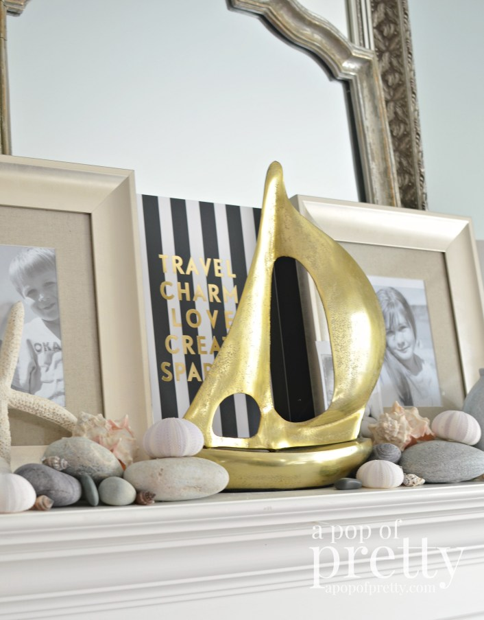 Summer Beach Mantel Decor4