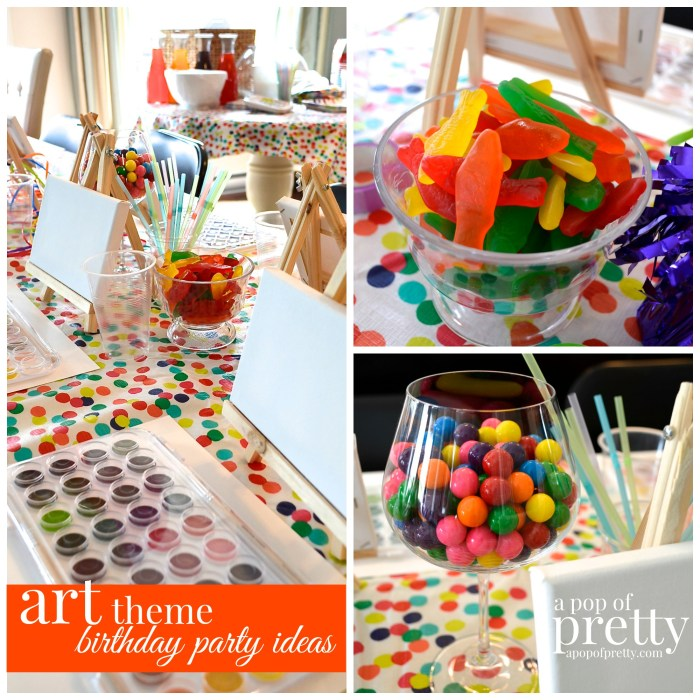 Art theme birthday ideas
