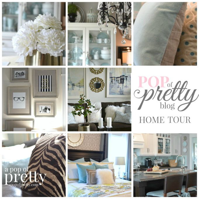 home tour a pop of pretty home decor blog a pop of ForHome Decor Blogs