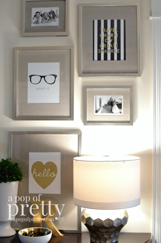 Canadian Bloggers Home Tour - A Pop of Pretty - Entryway