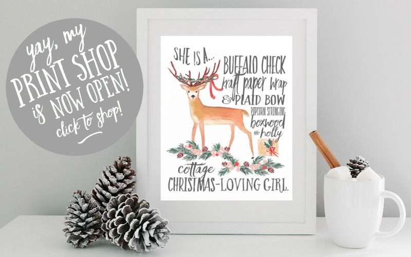 Christmas Printable 2015 - Cottage Christmas Girl – Slide
