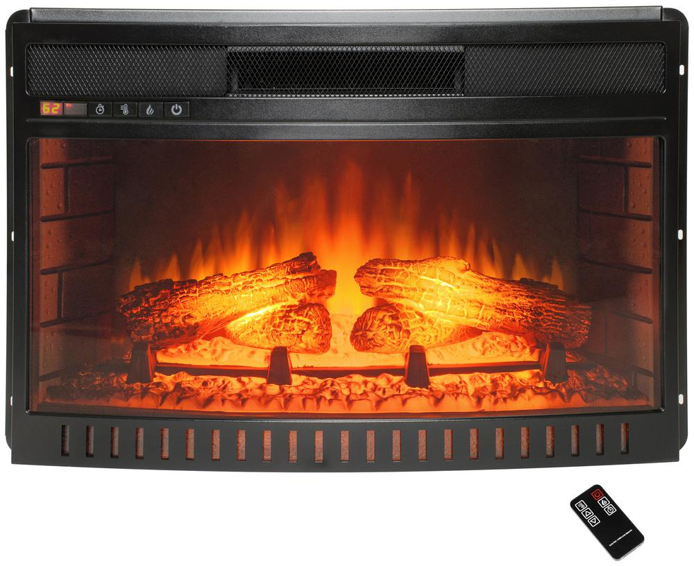Curved Electric Fireplace Details About Freestanding Electric Fireplace Insert Heater 25 In Black Curved Glass Remote