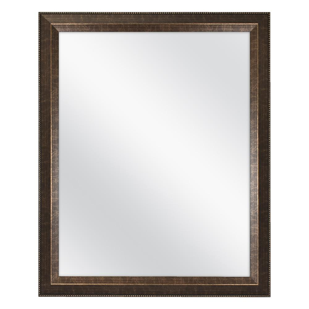 Framed Mirror Bathroom 26x32 In Fog Free Plastic Rectangular Wall Hanging Bronze 5408381626461 Ebay