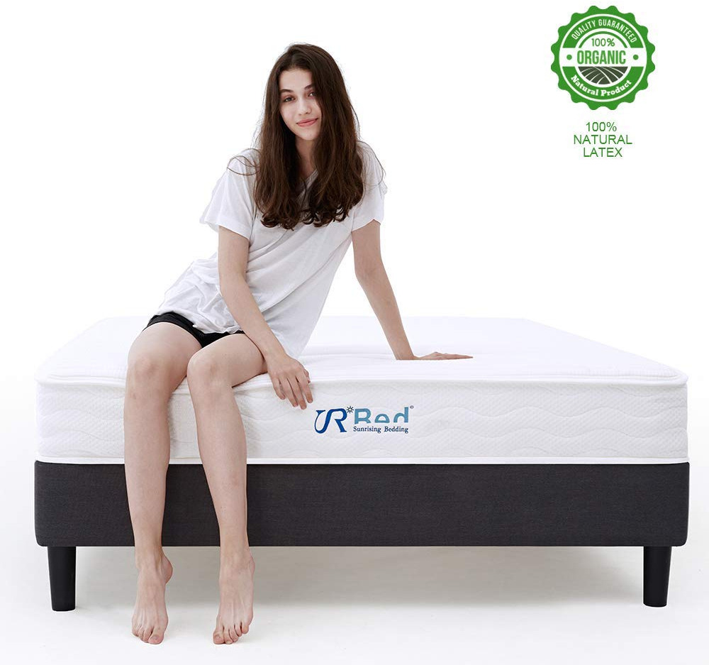 Latex King Size Mattress Details About Sunrising Bedding 8 Inch King Size Natural Latex Hybrid Coil Spring Mattress
