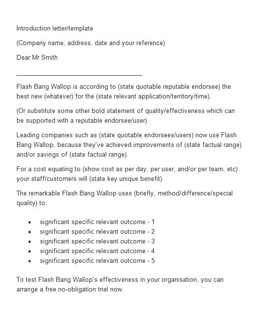 Sample Business Introductory Letter Apparel Dream Inc