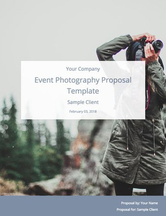 Event Photography Proposal Template Free Download Bidsketch