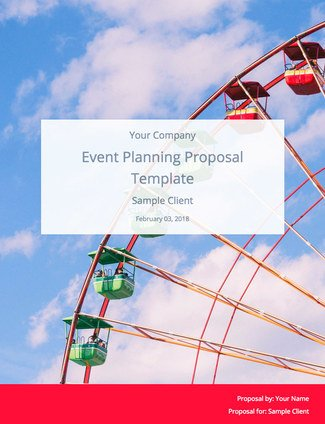 Event Planning Proposal Template (and Sample) Bidsketch - event planning proposal