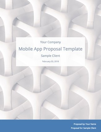 Mobile App Development Proposal Template (with Sample Content - development proposal sample