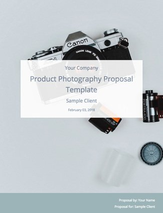 A Product Photography Proposal (and Template) to Win Clients Bidsketch