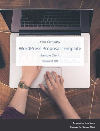 WordPress Website Proposal Template (by WPElevation) Bidsketch - website proposal sample