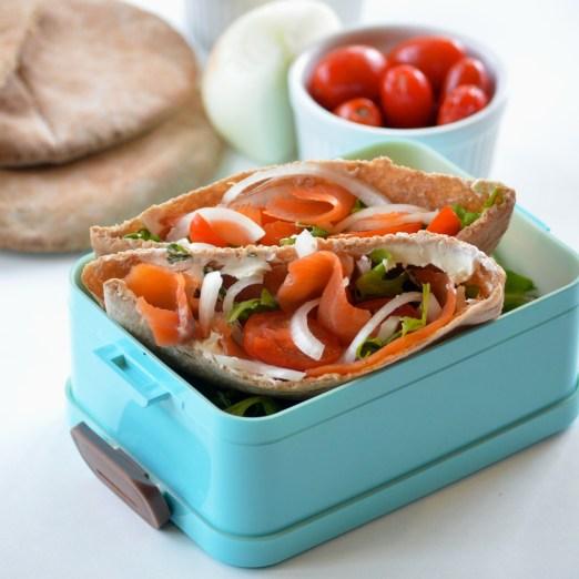 Smoked Salmon Pita Sandwiches! A quick, healthy, and delicious lunch!