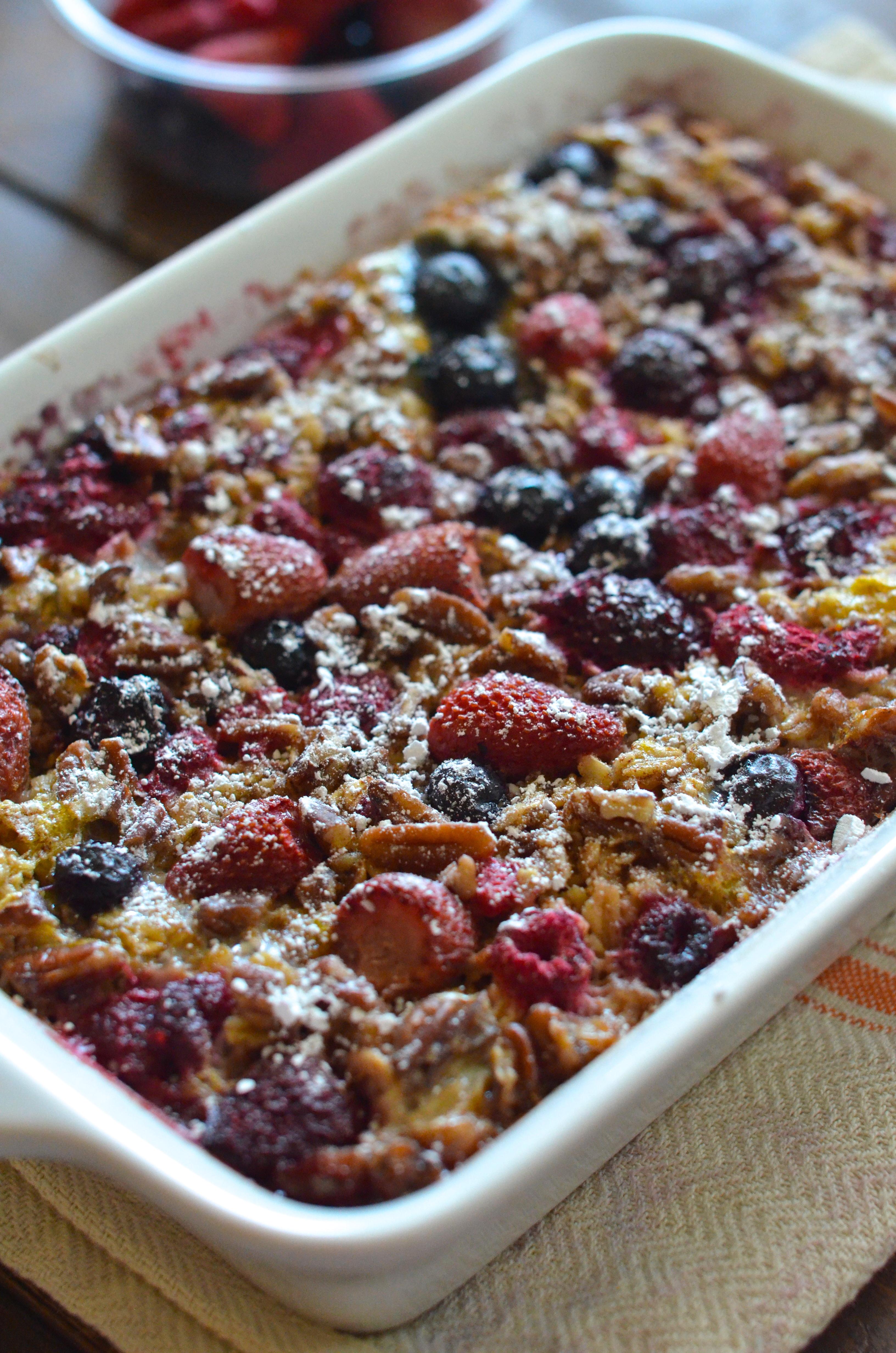 ... beloved oats, but isn't a fan of lava? Enter: Baked Berry Oatmeal
