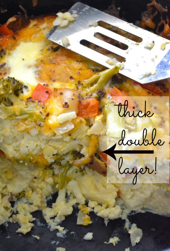 A healthy Crockpot breakfast casserole! SO delicious.
