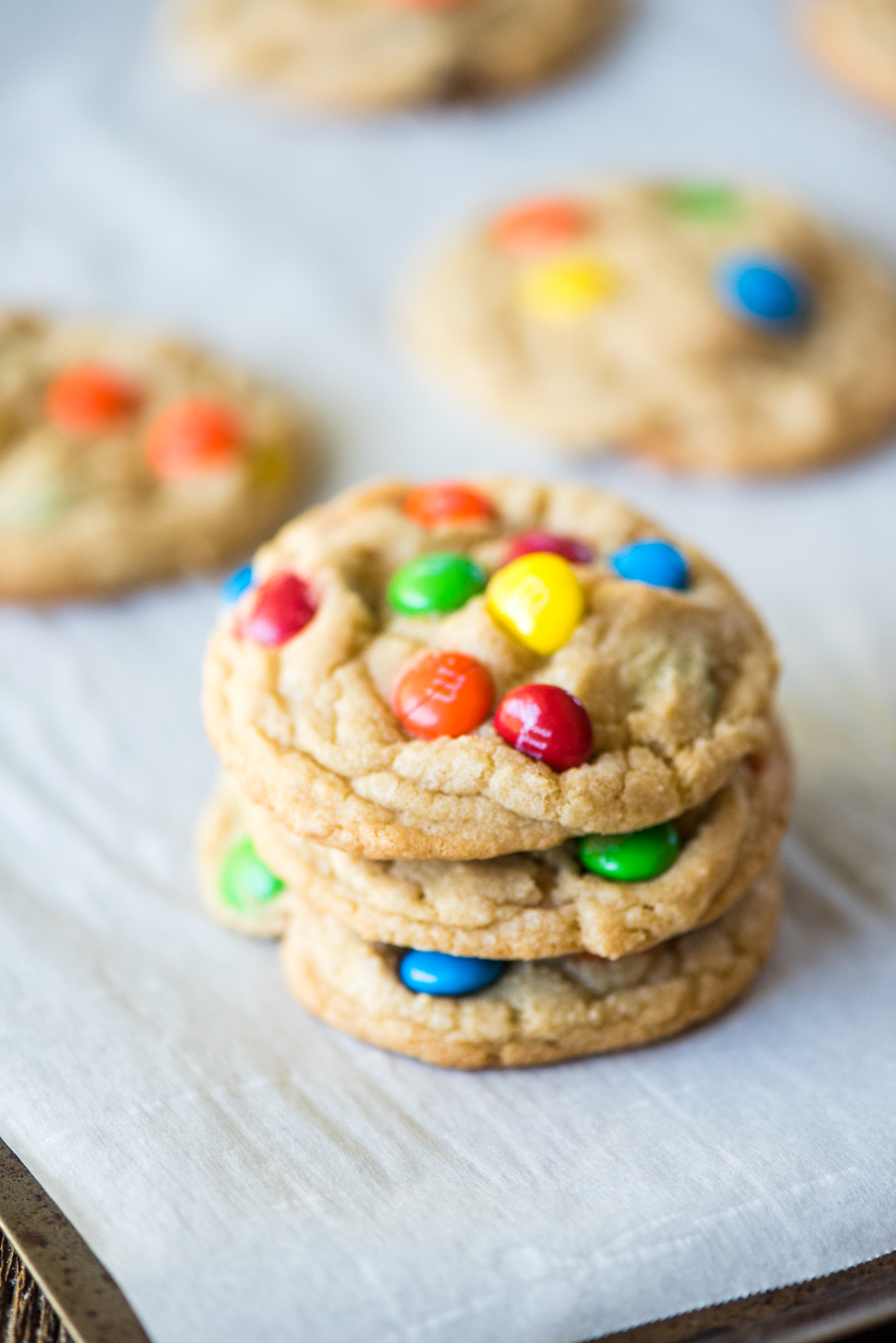 Best-Ever M&M Cookies- soft on the inside and crunchy on the outside!