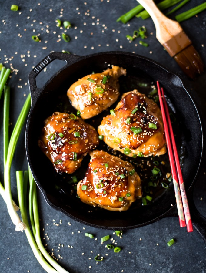 Sticky Garlic Honey Baked Chicken- unbelievably delicious and easy enough for a weeknight!