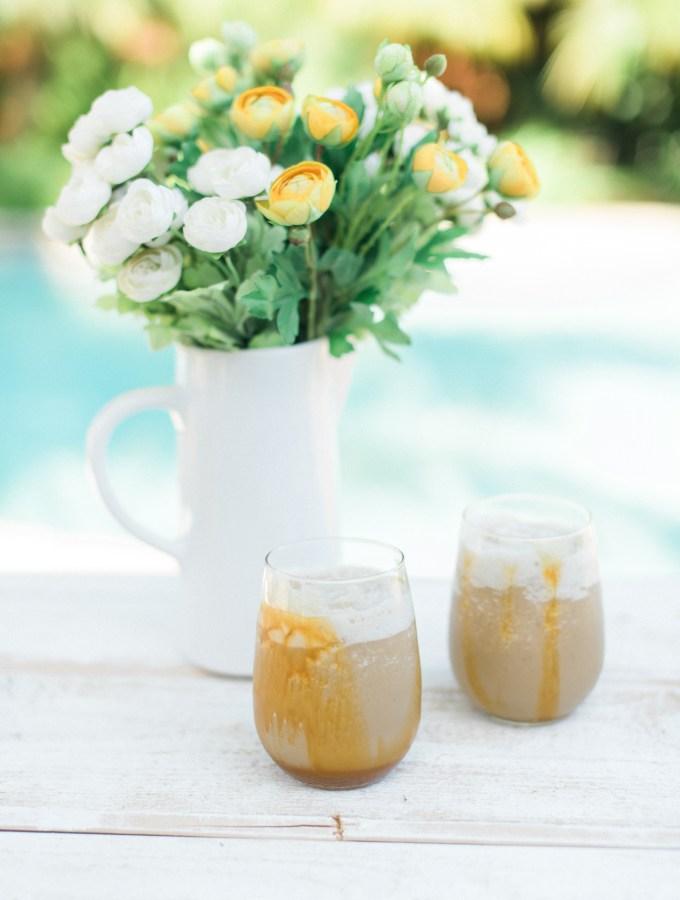 Frosty Caramel Blended Coffee-1
