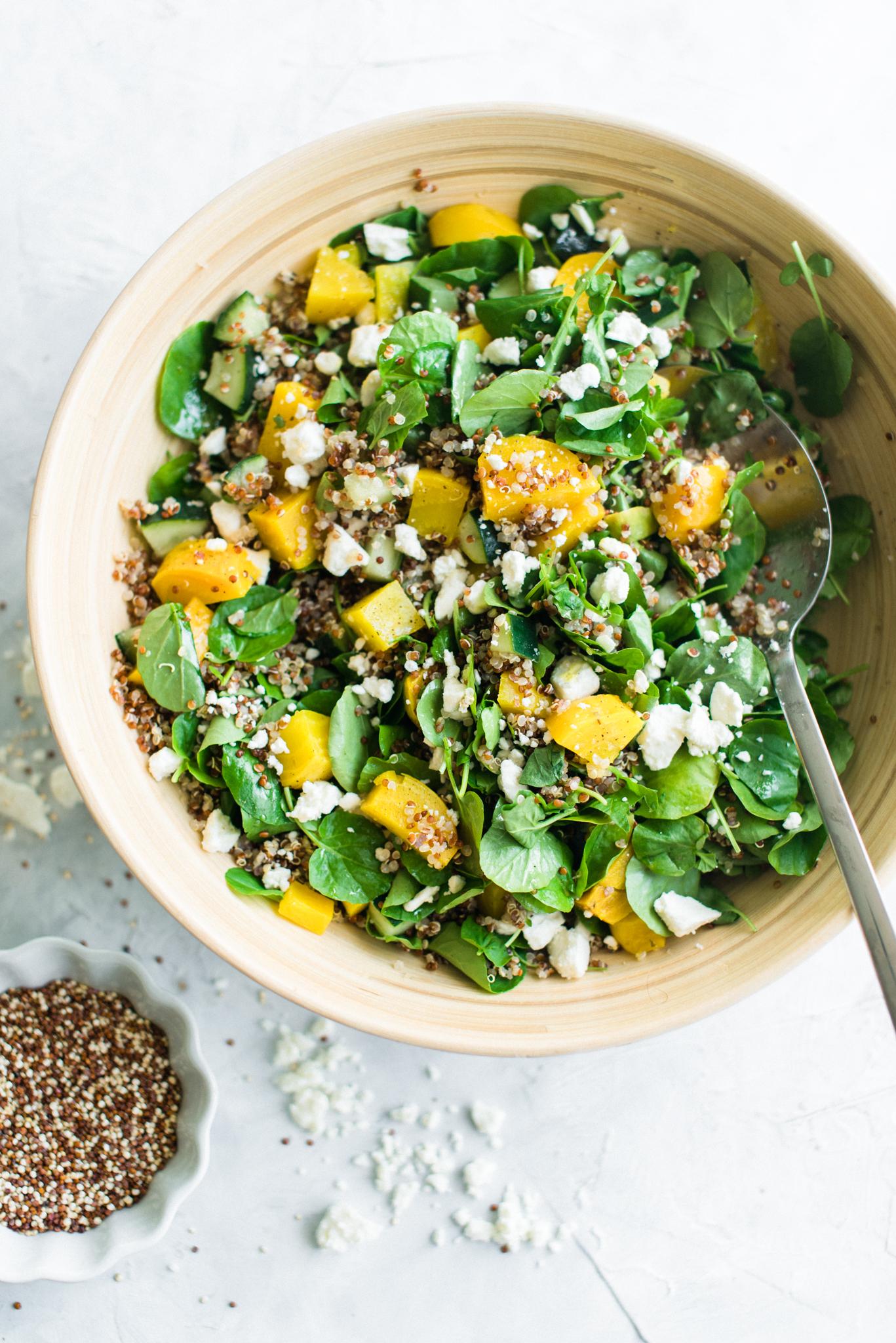 Golden Beet Red Quinoa Salad