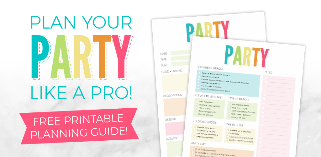 Party Planning Printable - Plan A Pinterest Worthy Party