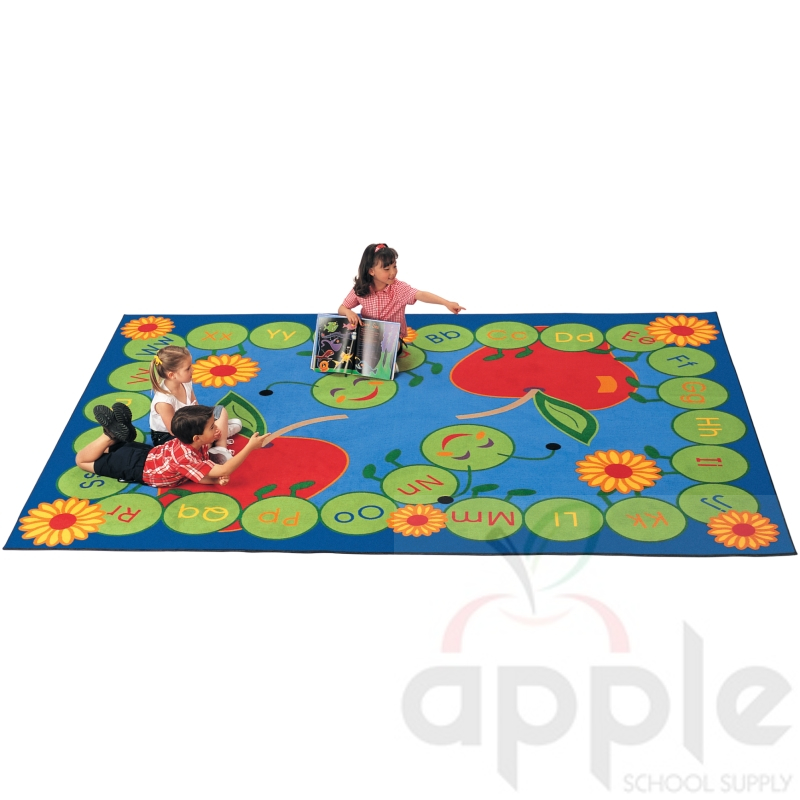 Abc Caterpillar Rectangle Rug Carpets For Kids Free