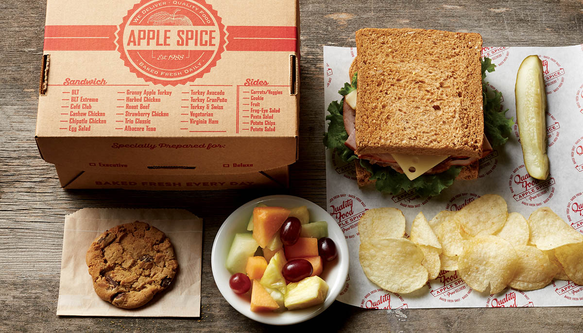 Lunch In A Box Corporate Caterers Lunch Delivery Apple Spice Nashville Tn