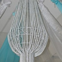 DIY Bead Chandelier