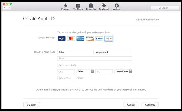 How to create an Apple ID without a credit card? - AppleToolBox