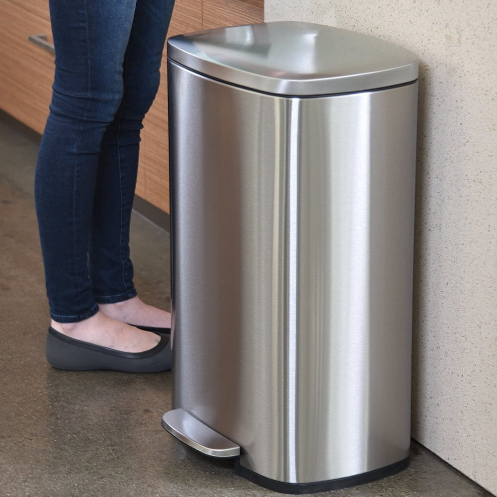 Metal Indoor Trash Can Best Kitchen Trash Can Appliance Analysts