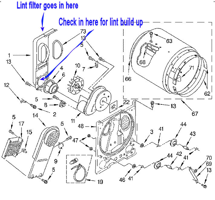 appliancejunkcom whirlpool dryer diagram