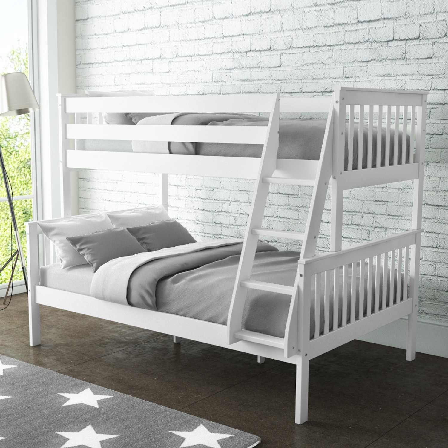 Double Bunk Beds New High Quality Oxford Triple Bunk Bed In White Small