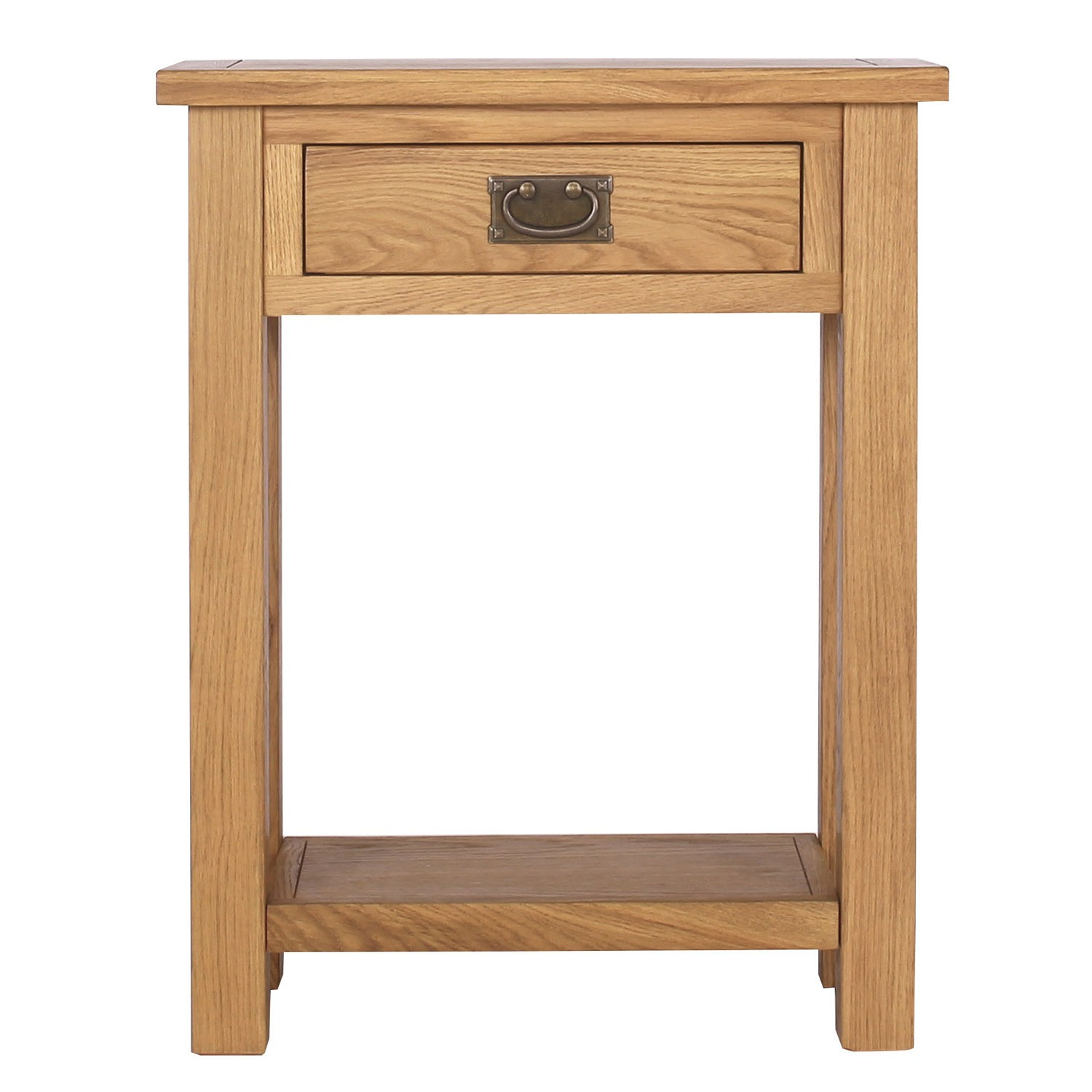 Narrow Console Table Australia Solid Oak Narrow Console Table 43 1 Drawer 43 Lower Shelf