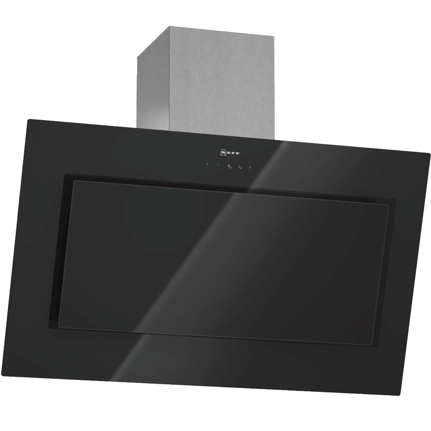 Dunstabzugshaube Schräg Neff D39e49s0gb Angled 90cm Chimney Cooker Hood With Black