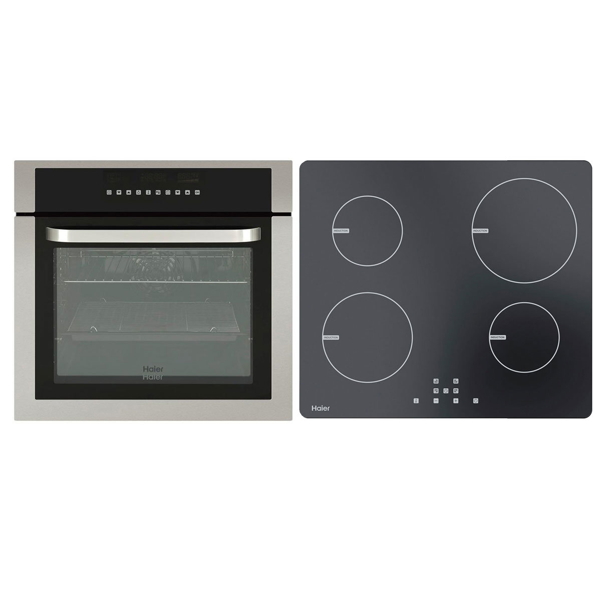 70cm Induction Cooktop Haier 60cm Pyrolytic Oven 60cm Induction Cooktop Pack Hwo60s11tpx1hci604tb