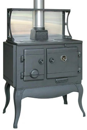 Traditional Cooking In Cast Iron Wood Stove From Scandia
