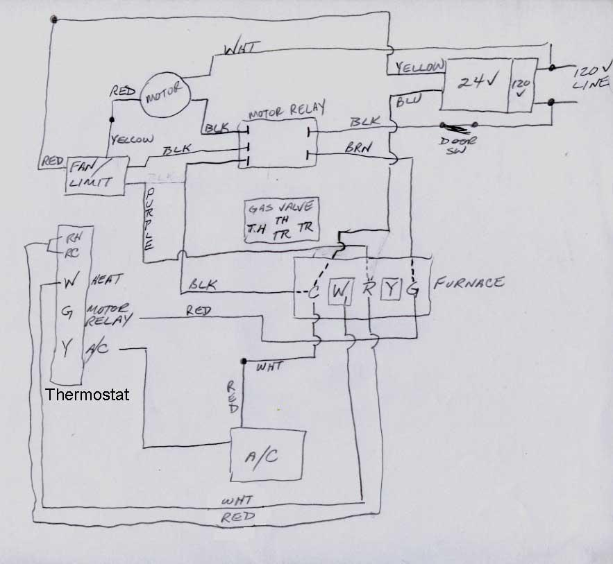 Comfortmaker furnace G-U 400100 -12m need wiring help - DIY