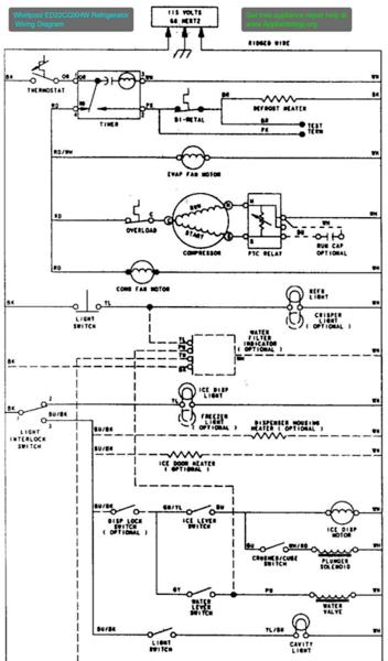whirlpool fridge wiring diagram