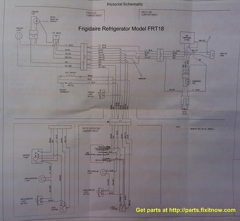 Frigidaire Refrigerator Model FRT18 Wiring Diagram and Schematic