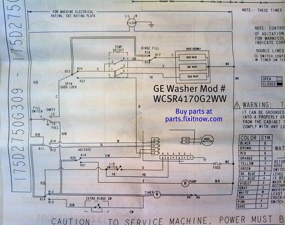 GE Washer Model WCSR4170G2WW Wiring Diagram Fixitnow Samurai