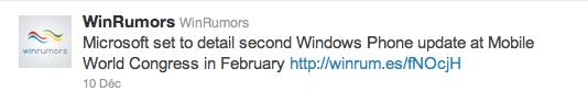 Une capture d'écran Twitter