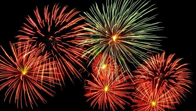 Fireworks in reverse