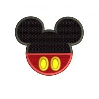 Mickey Mouse Applique Machine Embroidery Design