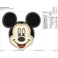 Mickey Mouse Disney Embroidery Applique Design
